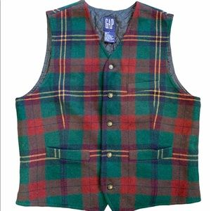 Gap plaid vest men's size medium